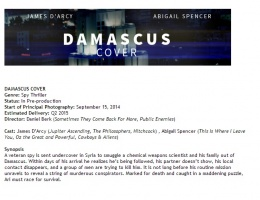 "James is Ari, the super spy in ""Damascus Cover"""