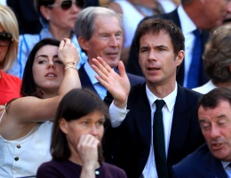 James is in the royal box at Wimbledon Championships today